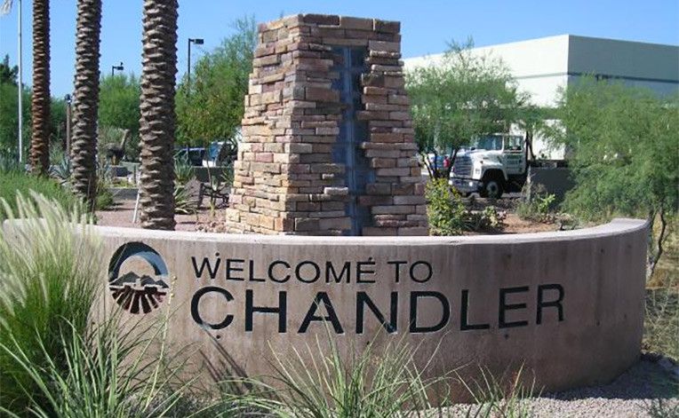 Chandler Welcome Entrance Sign